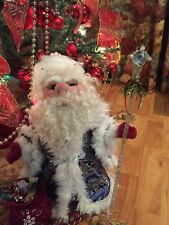 Ded Moroz, Santa Russian, Father Christmas, White-bearded Man, Soft Sculpture