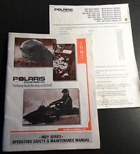 1987 POLARIS INDY SERIES OWNERS & MAINTENANCE & SET UP MANUAL P/N 9911219  (745)
