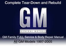 GM Family 1997-2005 Custom Full Service Repair Workshop Manual DVD Software