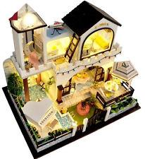 New~Dollhouse Miniature-TB3, 2 story Holiday Villa, w/ lights, music....