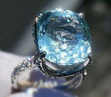 Aquamarine Gold Ring Diamond Natural 14K 14.32CTW GIA Certified RETAIL $14,500