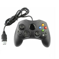 Replacement Wired Controller Game Pad for Microsoft Original Xbox S-Type Black