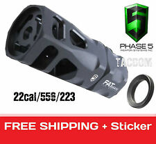 Phase 5 Tactical FAT Man Hex Muzzle Brake 556/22cal/223 Larger 1/2x28 TPI Comp