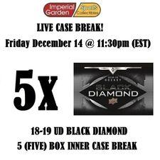 18-19 UD BLACK DIAMOND 5 (FIVE) BOX CASE BREAK #1127 - Vancouver Canucks
