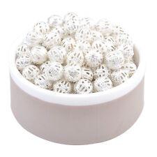 20 perles intercalaires filigranes couleur plaqué argent 8 mm