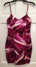 The Best Sexy BCBG Dress Pinks and Purples Rhinestone Pockets Size 0 NWT