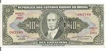BRAZIL, 1 CENT on 10 CRUZEIROS, ND(1966-67), UNC