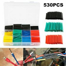 Heat Shrink Tubing Sleeve Wire Wrap Sleeving 530pcs Car Cable Shrinking Tube 1 2