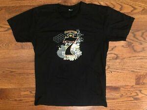 Seagram's 7 Dark Honey Whiskey Short Sleeve Black T-Shirt Men's XL