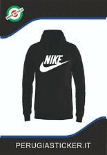 Felpa Nera logo Nike - felpa con cappuccio e tasca