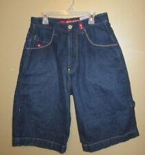 Men's Sz 29 Dark Wash JNCO Jeans Blue Denim 8 Ball Double Headed Snake Shorts