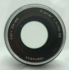 ZEISS Zeiss Planar T* ZE 50mm f/1.4 Lens (fits Canon EOS EF) - 99p start, NR!
