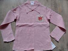 CAKEWALK schönes Lochmuster Langarmshirt m. Kragen rosa Gr. 104 NEU ST817