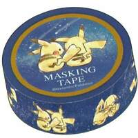 Japan Pokemon Washi Paper Masking Tape Sticker Pikachu Star Night