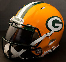 ***CUSTOM*** GREEN BAY PACKERS NFL Riddell Revolution SPEED Football Helmet
