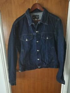 Armani Jeans Mens Denim Jacket - Indigo Size 44 GB