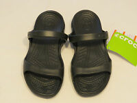 Crocs Cleo Black Black Relaxed Fit Sandal Womens W 7 Croslite material NWT