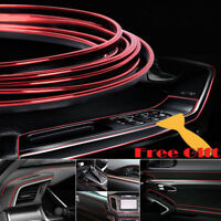 Red 16ft/5M Car Interior Edge Gap Line Moulding Trim Molding Strip Auto Decor