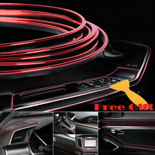 Red 5M Edge Gap Interior Line Moulding Trim Molding Strip Decor For Car/Truck