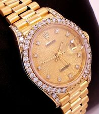 ROLEX President 69158 Crown Collection 18K Y Gold Fact Diamonds Jubilee Lady's