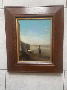 Antique Italian Oil on Canvas Painting H P Robinson & Son The Rembrandt Studio