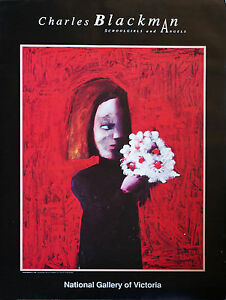 CHARLES BLACKMAN (1928-) RARE Original exhibition offset lithograph NGV 1994