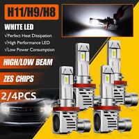H11 H8 H9 LED Headlight Bulbs Kit High/Low Beam Super White 6500K 24000LM 120W
