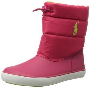 POLO RALPH LAUREN  990844C DAUNTE Yth´s(M) Pink Canvas Casual Rain Fashion Boots
