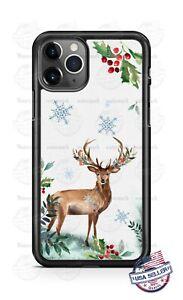Deer Stag Winter Wonderland Holiday Phone Case For iPhone 11 Samsung LG Google