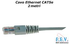 Cavo di rete ethernet RJ45 UTP LAN CAT5e patch cord 2mt per smart TV SKY modem