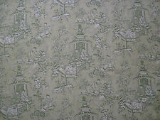 "SANDERSON CURTAIN FABRIC DESIGN ""Chatelet"" 5.4 METRES GREEN  (540 CM)"