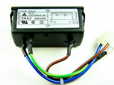 1x 06A2D Delta 250VAC Snap In Power Entry Module 6A with cables fuse BRAND NEW