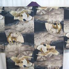 "Vintage Japanese Juban Kimono Robe Man's Underkimono ""Tiger and Hawk"""