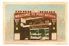 """WELCOME TO PORT ARTHUR""   Spode China Sign, Atkinson's Camera,  Canada, PM 1949"