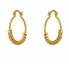 Fashion Womens rope yellow gold filled hoop huggie earrings statement jewelry
