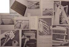 SMPL.WEAVING Card Finger loom making building,rug shag 2 harness,inkle hungarian