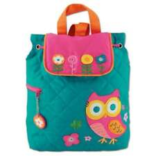 STEPHEN JOSEPH Childs Quilted embroidered Teal OWL Bag Backpack Rucksack