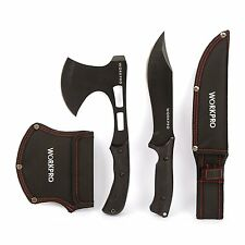 New Steel Axe Knife Set Outdoor Camping Hunting Survival Hatchet Throwing Sheath