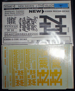 WALTHERS, NEW HAVEN, COMBI FREIGHT CAR ROAD NAME SET, N SCALE DECALS, XD640Y