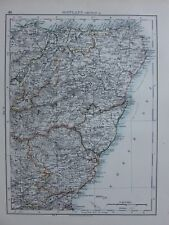1901 VICTORIAN MAP SCOTLAND FORFAR ABERDEEN