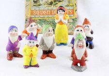 figurines porcelaine BLANCHE NEIGE et les 7 nains / japon walt disney