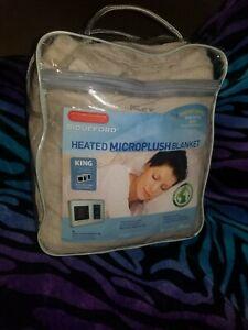 Biddeford Heated Microplush Blanket King