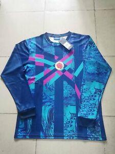 1995 Colombia Rene Higuita Goalkeeper Blue Retro Soccer Jersey