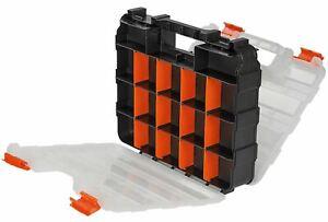 34 Compartment Storage Organiser Box Screws Nails Storage Carry Case Box