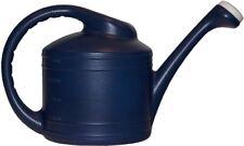 Garden Treasures 2-Gallon Dark Blue Resin Watering Can Outdoor Durable New
