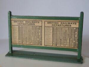 Wardie Master Models  - British Railways Platform Departures Board
