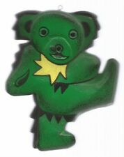 Green Dancing Bear Wooden Ornament * by Grateful Dead
