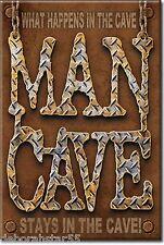 Garage MAN CAVE Man Room Tool Box Fridge Magnet Gift Metal Tin Sign MAGNET