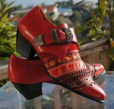 Serena D'Italia LADIES  RED ITALIAN HIGH FASHION SHOES-SIZES 4 to 6 & 8