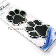 Animal Dog Cat Paw Chrome Emblem Badge for Car-Truck-Bike rear trunk side fender